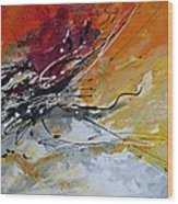 Sunrise - Abstract Art Wood Print