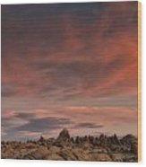 Sunrise Alabama Hills Near Lone Pine Ca Mg 0619 Wood Print