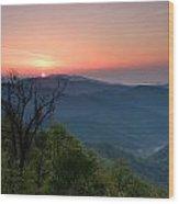 Sunrise Along The Blue Ridge Wood Print