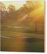 Sunrise At Augusta National Wood Print by Bo  Watson