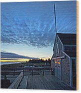 Sunrise At Barnstable Yacht Club Wood Print