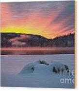 Sunrise At Bass Lake Wood Print