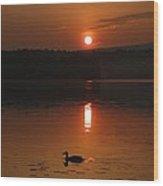 Sunrise At Canaan Street Lake Wood Print