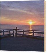 Sunrise At Cape Spear St Johns Newfoundland Wood Print