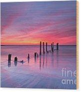 Sunrise At Deal Nj Wood Print