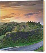 Sunrise At Doi Intanon National Park View Point Thailand Wood Print