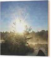 Sunrise At Holeb Wood Print