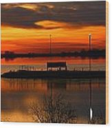 Sunrise At Jackson Wood Print
