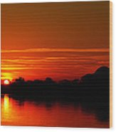 Sunrise At Jefferson Memorial Wood Print
