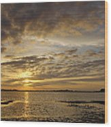Sunrise At Low Tide - Sleepy Cove Wood Print