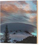 Sunrise At Mount Hood   Wood Print