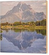 Sunrise At Oxbow Bend 2 Wood Print by Marty Koch