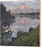 Sunrise At Oxbow Bend 3 Wood Print by Marty Koch