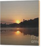 Sunrise At Peggy's Point Wood Print
