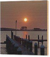 Sunrise At Piney Point Maryland Wood Print