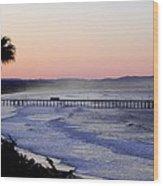 Sunrise At Pismo Beach Wood Print