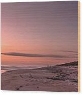 Sunrise At Playalinda Beach Wood Print