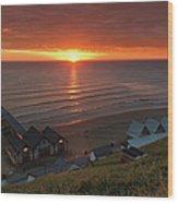 Sunrise At Saltburn Wood Print