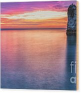 Summer Sunrise Selwick Bay Flamborough Wood Print