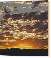 Sunrise At Spirit Lake Sanctuary 20140710 0604 Wood Print