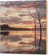 Sunrise At Stockdale Wood Print