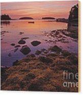 Sunrise At Tenants Harbor Wood Print