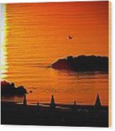 Sunrise At The Adriatic Sea Wood Print by Matteo Musso
