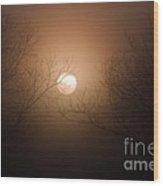 Sunrise  At The Pecan Grove Southern Alabama Wood Print