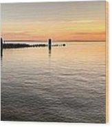 Sunrise At The Straits Wood Print