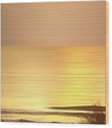 Sunrise At Topsail Island Panoramic Wood Print