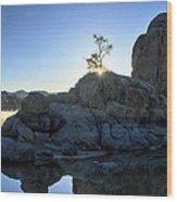 Sunrise At Watson Lake Wood Print by Dan Myers