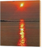 Sunrise Atlantic City Wood Print