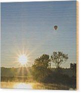 Sunrise Balloon Ride Over Lake Nockamixon Wood Print