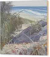 Sunrise Beach Dunes Sunshine Coast Qld Australia Wood Print