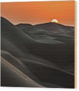Sunrise Behind The Mountains Wood Print