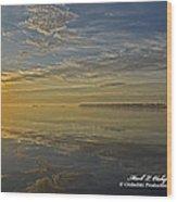 Sunrise Biloxi Ms Dec 2 2013 Wood Print