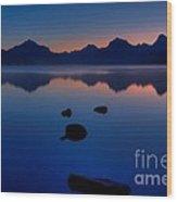 Sunrise Blues Wood Print