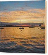 Sunrise Boston  Wood Print