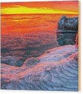 Sunrise Chicago Lake Michigan 1-30-14 Wood Print