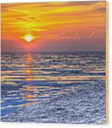 Sunrise Chicago Lake Michigan 3-9-14 Wood Print