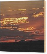 Sunrise Closeup 9-11-2013 Wood Print