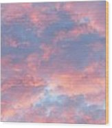 Sunrise Clouds Wood Print