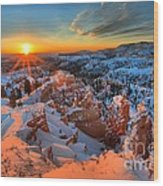 Sunrise Delight Wood Print
