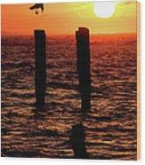 Sunrise Descent - Outer Banks Ocracoke Wood Print
