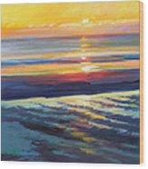 Sunrise Flats Wood Print by Ed Chesnovitch