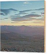 Sunrise From Mt Sherman Panorama Wood Print