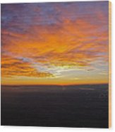 Sunrise From The Airplane Wood Print