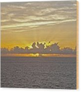 Sunrise From The Ship Wood Print