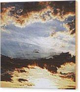 Sunrise Heaven Wood Print
