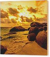 Sunrise In Bintan 2 Wood Print